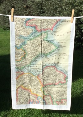Map of East Lothian: 2017. To read the story www.myteatowels.wordpress.com/2018/03/06/map