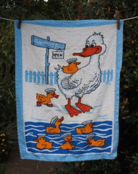 Swimming Pool Open: Acquired 2017, original date unknown. To read the story www.myteatowels.wordpress.com/2017/08/12/swi