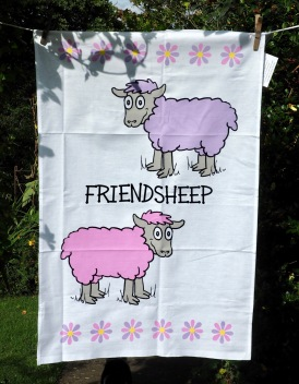 Friendsheep: 2017. To read the story www.myteatowels.wordpress.com/2017/09/08/fri