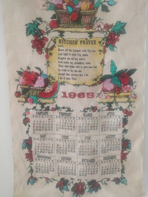 1965: On 'loan' from Ade. To read the story go to Guest Tea Towel (Ade)