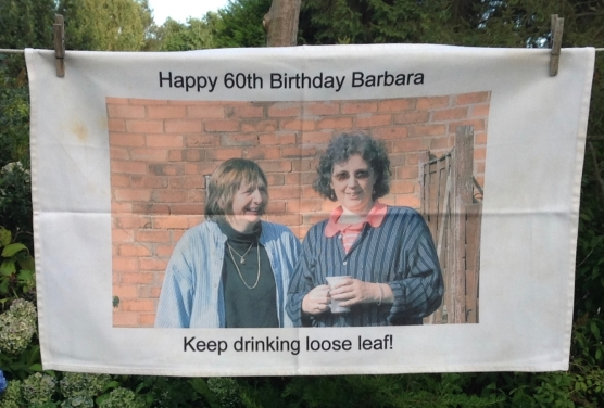 Happy 60th Birthday Barbara: 2011. To read the story www.myteatowels.wordpress.com/i-never-thought-about-that