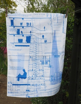 The Blueprint of The Shard: 2017. To read the story www.myteatowels.wordpress.com/2017/05/03/The