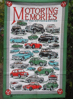Motoring Memories: Vintage, acquired 2017. To read the story www.myteatowels.wordpress.com/2017/08/20/mot
