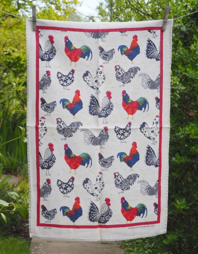Rooster: 2015. To read the story www.myteatowels.wordpress.com/2018/01/21/roo