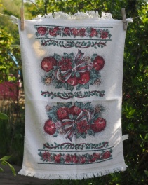 Red Apples: Date Unknown. To read the story www.myteatowels.wordpress.com/2017/06/23/red