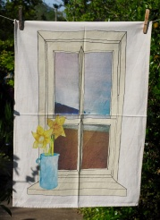 Two Daffodils on a Window Sill: 2015. To read the story www.myteatowels.wordpress.com/2017/06/06/two