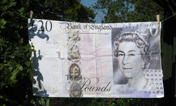 £20 Bank Note: 2002. To read the story www.myteatowels.wordpress.com/2018/08/14/£20