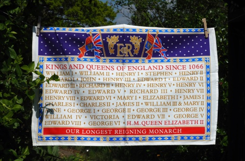 Kings and Queens of England since 1066: 2016. To read the story www.myteatowels.wordpress.com/2016/06/02/kin