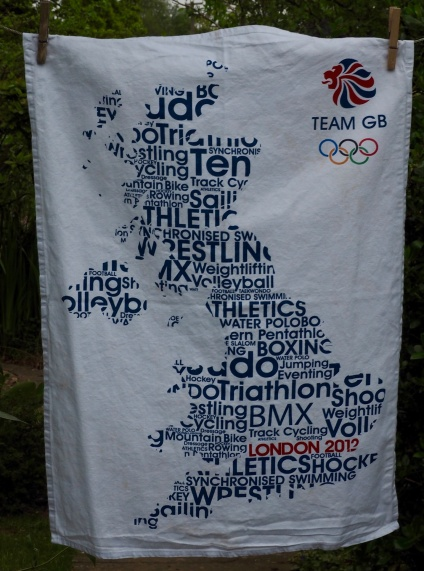 Olympic Sports: 2012. To read the story www.myteatowels.wordpress.com/2016/10/26/oly