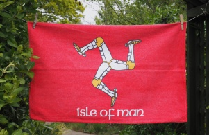 Isle of Man Flag: 2009. To read story www.myteatowels.wordpress.com/2017/01/18/isl