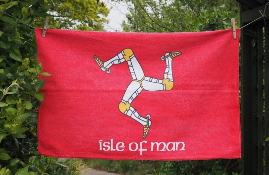 Isle of Man Flag: 2009. To read story www.myteatowels.wordpress.com/2017/01/18/isl
