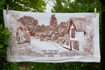 Old Village Shanklin I.O.W: 2001. To read the story www.myteatowels.wordpress.com/2018/07/27/old