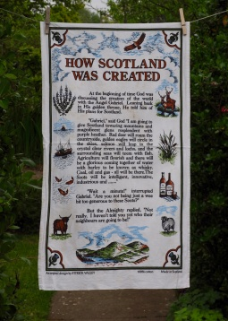 How Scotland Was Created: 1999. To read the story www.myteatowels.ordpress.com/2019/04/16/how