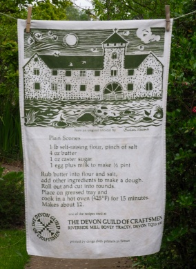 Devon Guild of Craftsmen: 1993. To read the story www.myteatowels.wordpress.com/2017/01/19/dev