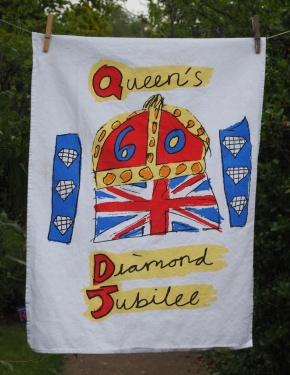Queen's Diamond Jubilee: 2012. To read the story www.myteatowels.wordpress.com/2017/01/20/the-queens-diamond-jubilee-2012/