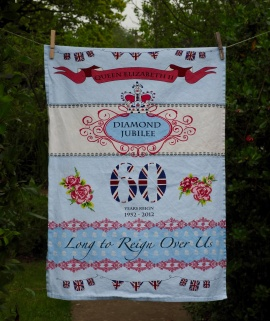 Queen's Diamond Jubilee:2012. To read the story www.myteatowels.wordpress.com/2017/01/20/the-queens-diamond-jubilee-2012/