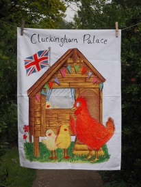 Cluckingham Palace: 2016. To read the story www.myteatowels.wordpress.com/2016/12/29/clu