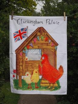 Cluckingham Palace: 2016. To read the story www.myteatowels.wordpress.com/2016/12/29/clu