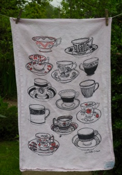 Tea Cups: 2001 and 2010. To read the story www.myteatowels.wordpress.com/2017/03/09/tea