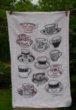 Tea Cups: 2001 and 2010. To read the story www.myteatowels.wordpress.com/2017/03/09/tea