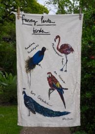 Fancy Pants Birds: 2015. To read the story www.myteatowels.wordpress.com/2017/12/10/fan