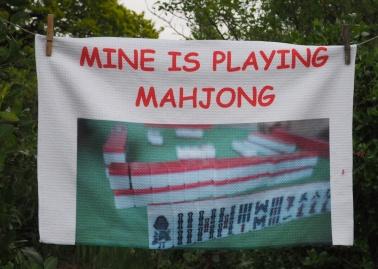 Mine is Playing Mahjong: 2014. To read the story www.myteatowels.wordpress.com/2016/04/15/min