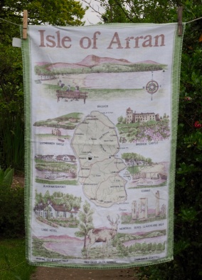 "Isle of Arran: 6 and 7 September 1992 ""Rain, rain and more rain today but not deterred we went to Brodick House and Gardens which are owned by the National Trust. Lovely gardens, interesting furniture and pictures. Lunch back at Lamlash, change into some dry clothes then off to Blackwaterfoot. Lovely little place on west of the island but the rain came"" (from Jean's Postacrd Diary) . Also in Arran www.myteatowels.wordpress.com/2018/11/02/arr"