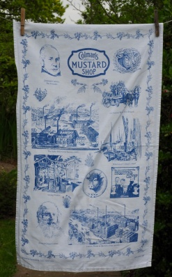 """Colman's Mustard, Norwich: 2002. """"This was a present from Liz when she went on holiday to Norfolk"""" To read the story www.myteatowels.wordpress.com/2016/09/16/colemans-mustard-norwich-2002/"""