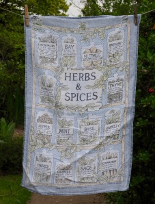 "Herbs and Spices: ""Norma bought this for me for Christmas in 1992. It's a bit faded now but lovely linen"""
