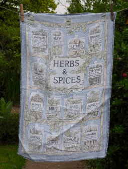 """Herbs and Spices: """"Norma bought this for me for Christmas in 1992. It's a bit faded now but lovely linen"""""""