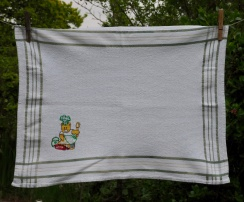"""The Baking Bear: 1998. """"I can't remember the story of this tea towel."""" To read the story www.myteatowels.wordpress.com/2017/12/29/bak"""