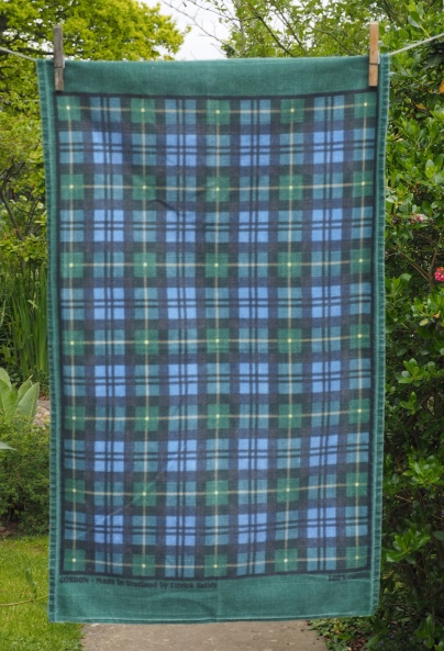 """Clan Gordon Tartan: Acquired 2015 but much older. To read the story www.myteatowels.wordpress.com/2019/06/15/cla """"I like the Gordon Tartan but I can't remember the story of it. Do you think that it is associated with the Gordon Highlanders Museum because I love that place"""""""