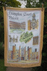 """Hampton Court: Acquired 2015 (and back to 1990) """"We went with David and Dorothy on a couple of occasions to Hampton Court Palace. We went down the River Thames on a boat. It was lovely. We went round the grounds, had a lovely cup of tea."""" To read an alternative story www.myteatowels.wordpress.com/2019/02/28/ham"""
