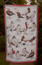"Ducks Galore: Acquired 2015 but much older ""I bought this when we went to the RSPB place at Sandy. It was great. That must have been a while ago"" said Jean. To read the story www.myteatowels.wordpress.com/2019/04/15/duc"