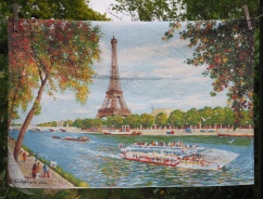 "Paris: 12 June 1989 ""I loved Paris and we bought a lovely tea towel. Went up the Eiffel Tower which was a bit scary"" (from Postcard Diary)"