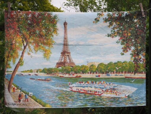 """Paris: 12 June 1989 """"I loved Paris and we bought a lovely tea towel. Went up the Eiffel Tower which was a bit scary"""" (from Postcard Diary)"""