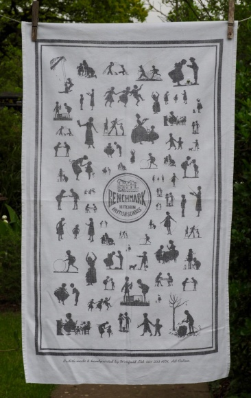 """Jean bought this tea towel on one of her trips to Hitchin to see her brother. It is from the British Schools Museum. """"That was a great little museum"""" she said"""
