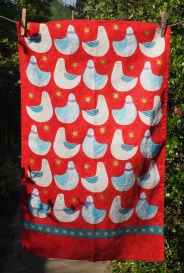 Christmas Doves: 2015. To read the story www.myteatowels.wordpress.com/2016/12/15/chr
