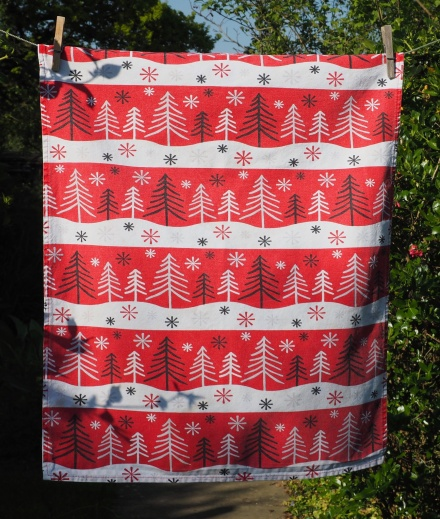 Black and White Christmas Trees; Date Unknown. To read the story www.myteatowels.wordpress.com/2016/12/18/bla