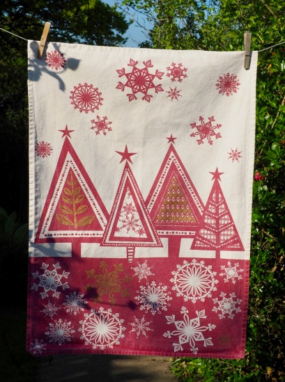 Christmas Trees and Snowflakes: 2010. To read the story www.myteatowels.wordpress.com/2015/12/26/chr