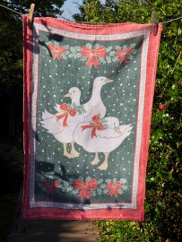 Three Christmas Geese: 1989. To read the story www.myteatowels.wordpress.com/2015/12/31/thr