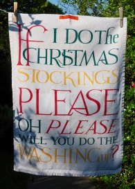 If I Do The Christmas Stocking..: 2011. To read this story www.myteatowels.wordpress.com/2015/12/20/if-i-do-the-christmas-stocking-2011/