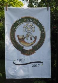 Nottinghamshire WI Centenary: 2017. To read the story www.myteatowels.wordpress.com/2019/03/06/not