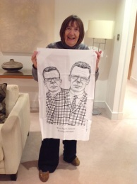 I wanted this tea towel but in the end I gave it to Rob! The Proclaimers: 2016. To read the story www.myteatowels.wordpress.com/2016/11/16/the-proclaimers-2016/