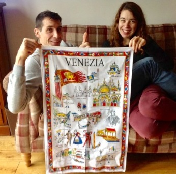 A present for me from Venezia. I didn't think I was going to be able to prise it from them!
