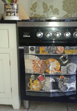 Sharon's favourite: Emma Bridgewater Black Dresser tea towel, for display purposes only, never been used