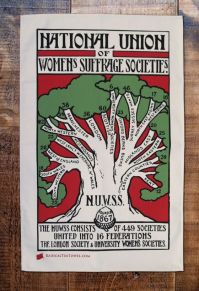 This was the poster for the National Union of Women's Suffrage Societies, led by Millicent Fawceett
