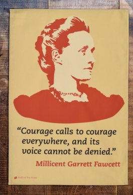 Millicent Fawcett, leader of the national Union of Women's Suffrage Societies from which Emmeline Pankhurst broke away. She has a statue in Parliament Square.