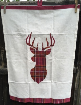 Tartan Stag: 2018. To read the story www.myteatowels.wordpress.com/2018/11/23/tar