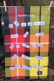 Scottish Lingo: 2018. To read the story www.myteatowels.wordpress.com/2019/01/20/sco